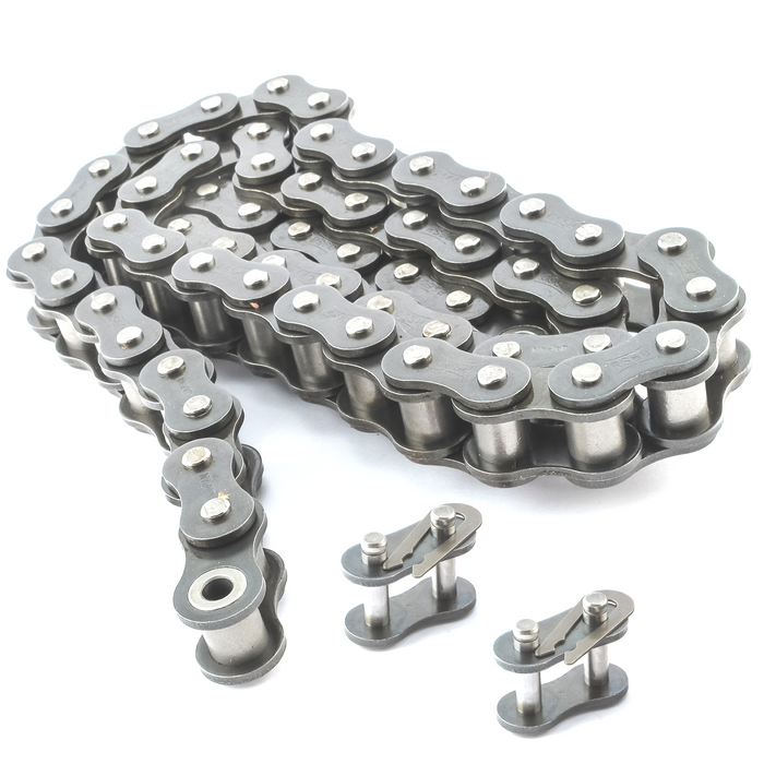 #35SS Stainless Steel Roller Chain x 10 feet + Free Connecting Link