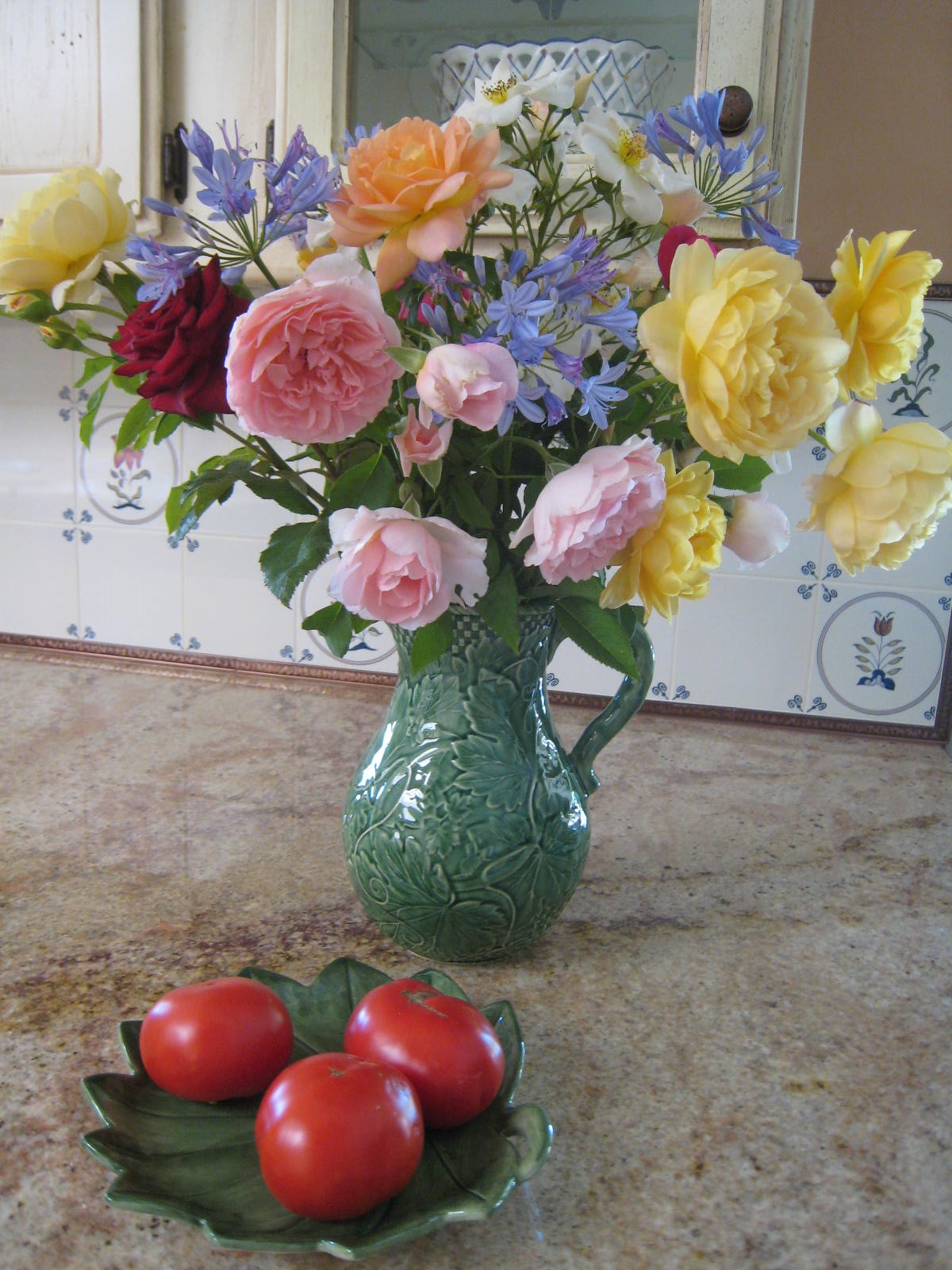 Rose Bouquet in Pitcher