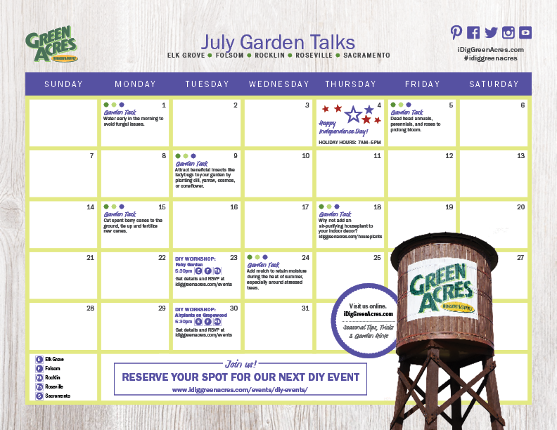 JULY 2019 Calendar of Events