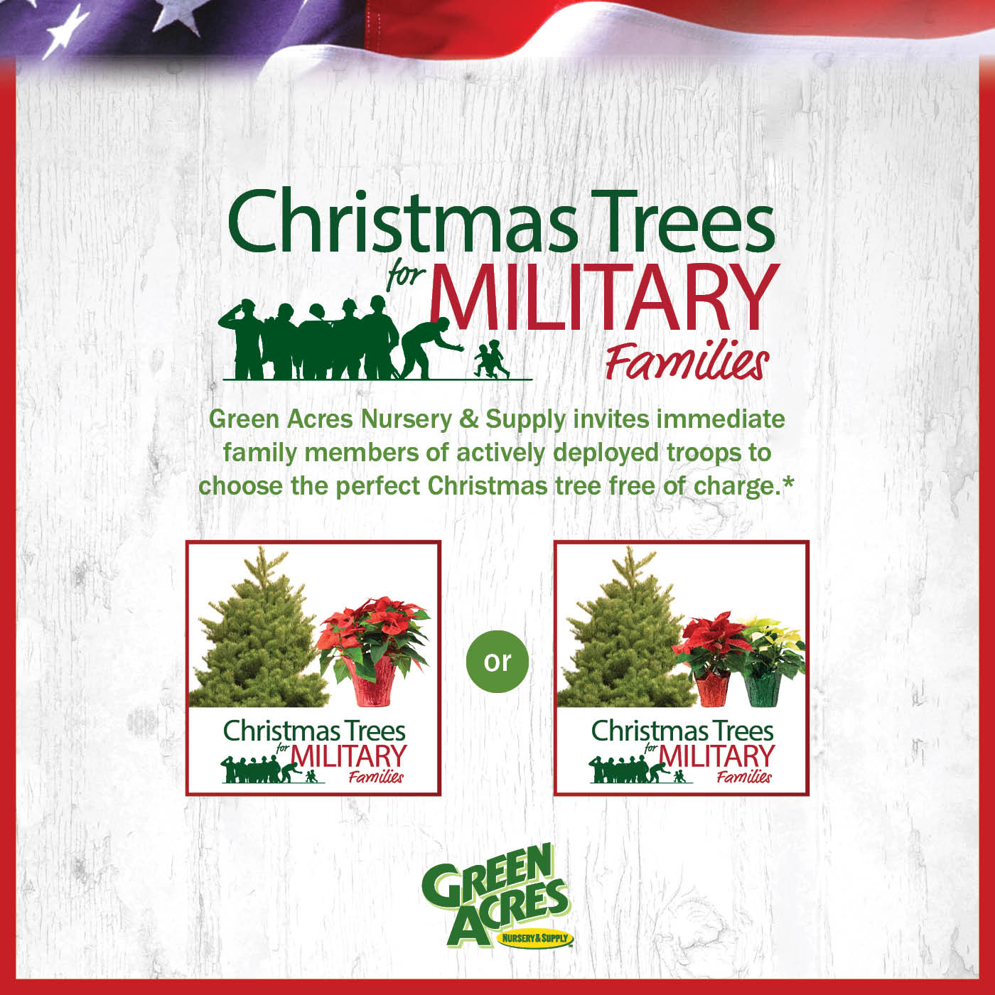 Christmas Trees for Military Families