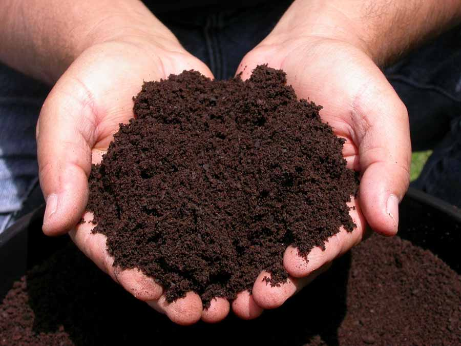 Rich, locally produced soil