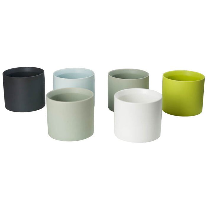 Cylinder Cache  6 inch Pot assorted colors