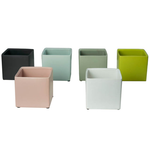 Cube Cache Pot 2.5 inch assorted colors