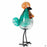 ApricotMint glass rooster blue- green