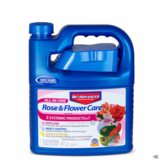 BioAdvanced All-In-One Rose and Flower Care half gallon concentrate