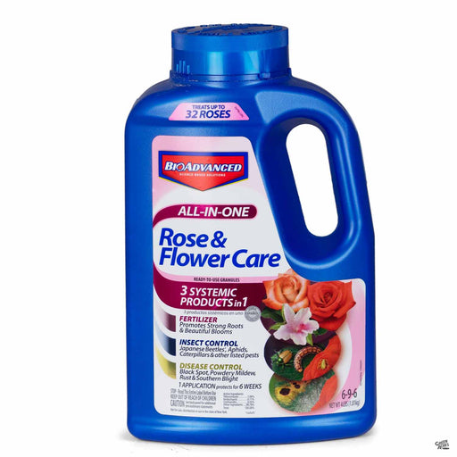 BioAdvanced All-In-One Rose and Flower 4 pounds RTU granules