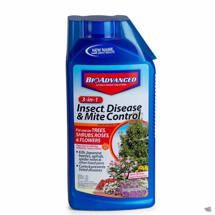 BioAdvanced 3-in-1 Insect, Disease and Mite Control 32 ounce concentrate