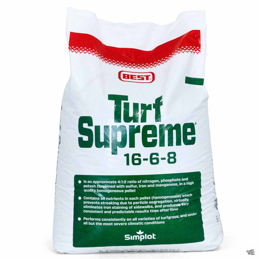 Best Turf Supreme 16-6-8 in a 50 pound bag