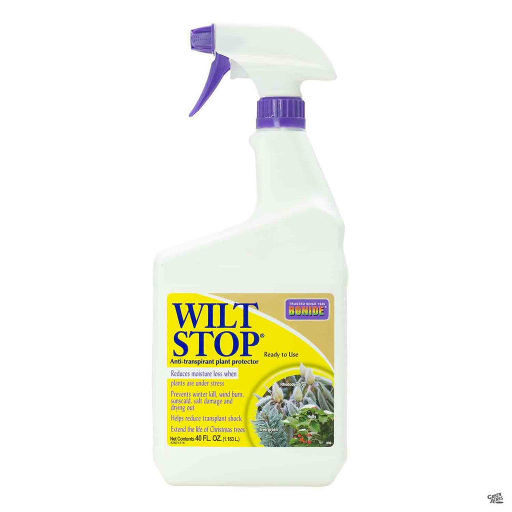 Bottle of  Wilt Stop Plant Protector RTU