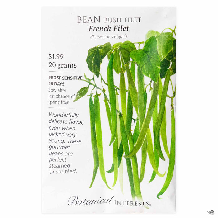 Botanical Interests Seeds Bean Bush Filet French Filet