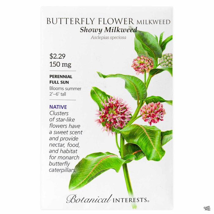 Botanical Interests Seeds Butterfly Flower Milkweed Showy Milkweed