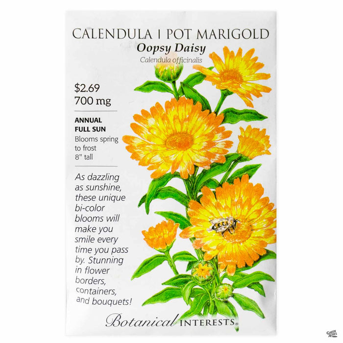 Botanical Interests Seeds Calendula Pot Marigold Oopsy Daisy