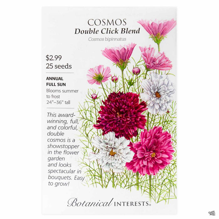 Botanical Interests Seeds Cosmos Double Click Blend