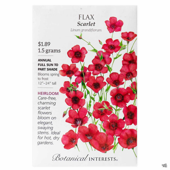 Botanical Interests Seeds Flax Scarlet