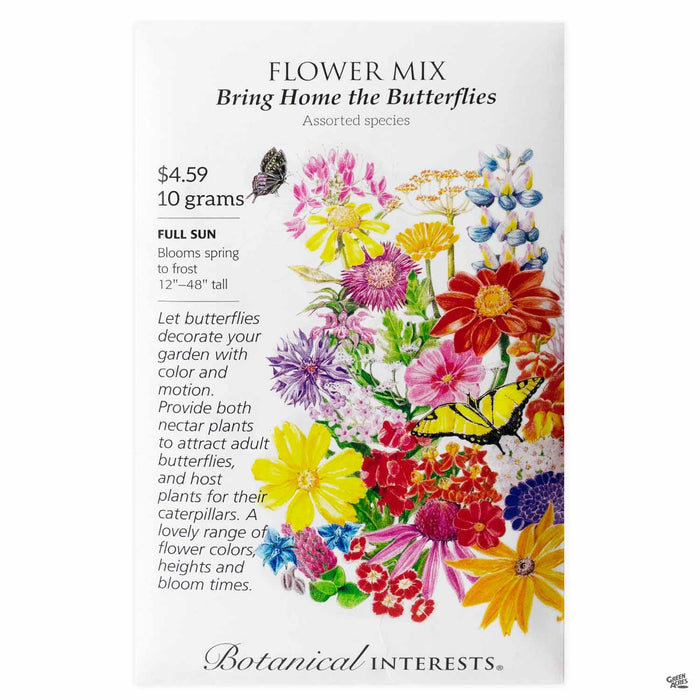 Botanical Interests Seeds Flower Mix Bring Home the Butterflies