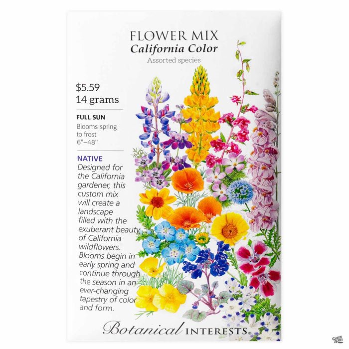 Botanical Interests Seeds Flower Mix California Color