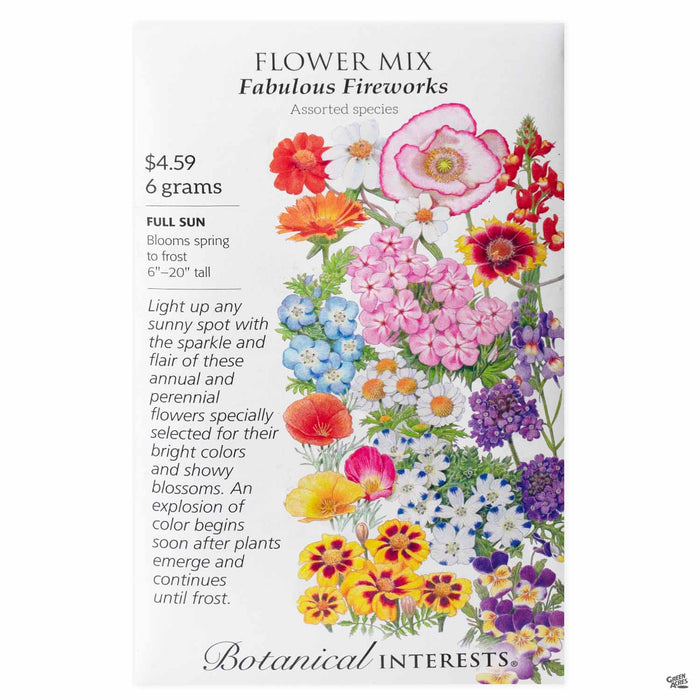 Botanical Interests Seeds Flower Mix Fabulous Fireworks