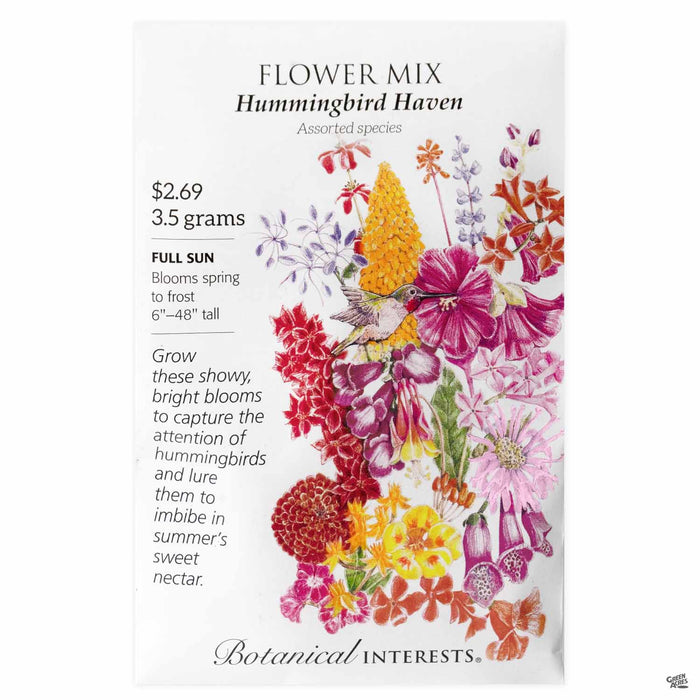 Botanical Interests Seeds Flower Mix Hummingbird Haven