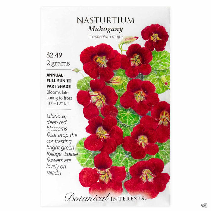 Botanical Interests Seeds Nasturtium Mahogany