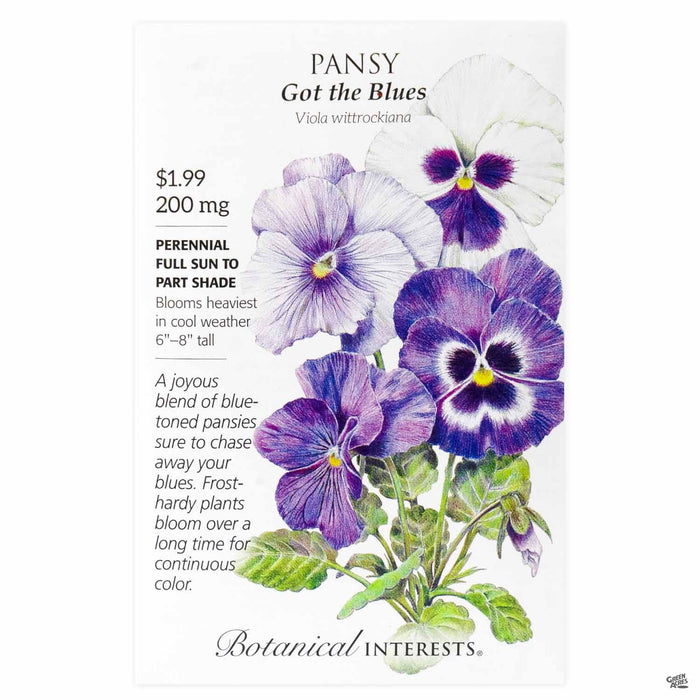 Botanical Interests Seeds Pansy Got the Blues