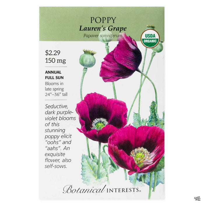 Botanical Interests Seeds Poppy Lauren's Grape