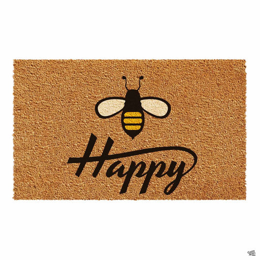 Bee Happy Coir Door Mat