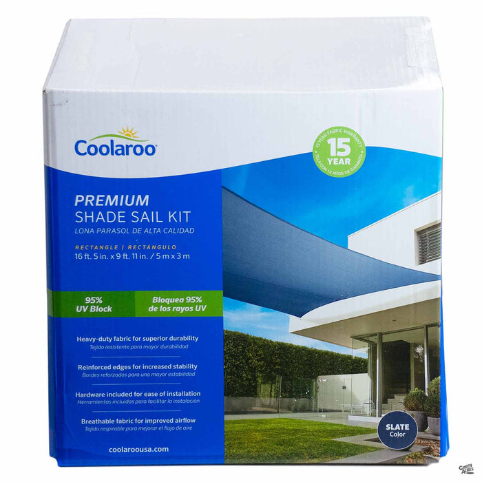 Coolaroo Rectangle Premium Shade Sail Kit in Slate