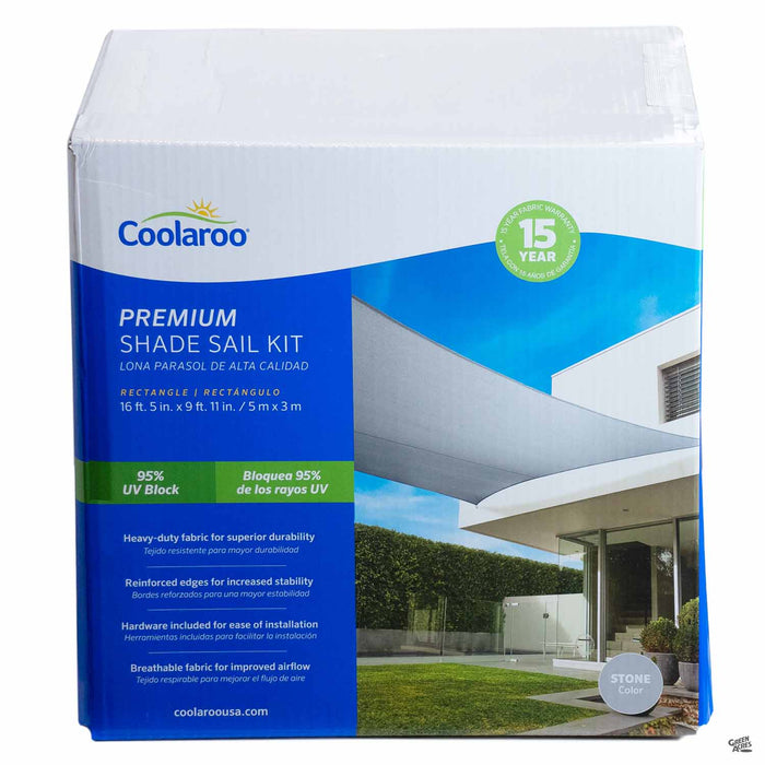 Coolaroo Rectangle Premium Shade Sail Kit in Stone