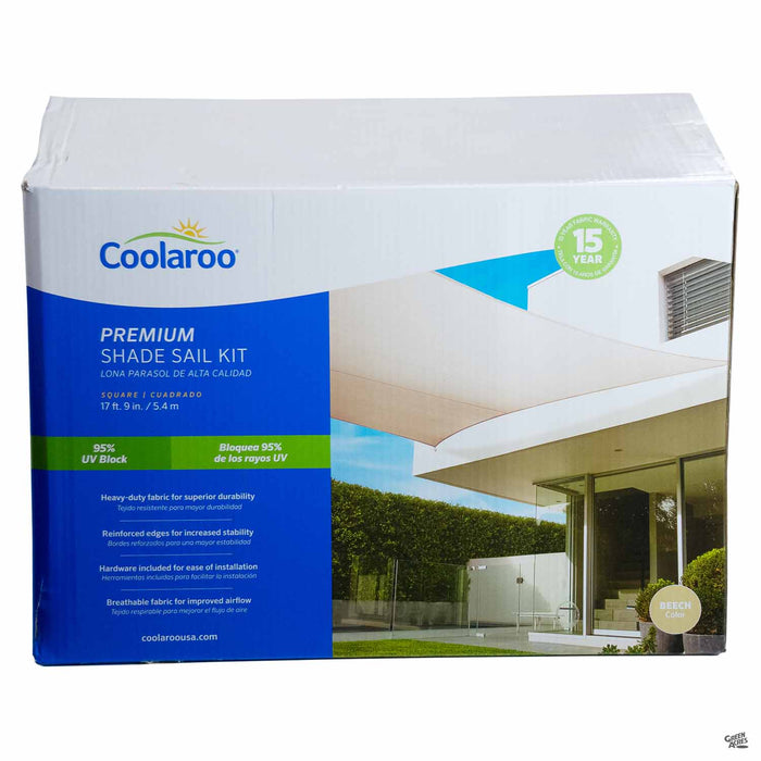 Coolaroo Square Premium Shade Sail Kit in Beech