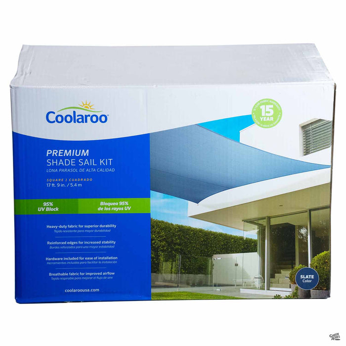Coolaroo Square Premium Shade Sail Kit in Slate