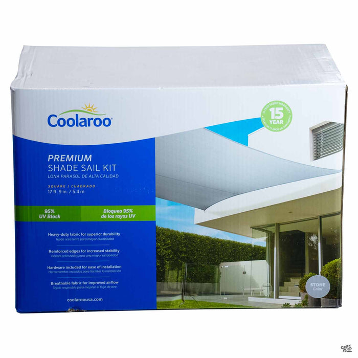 Coolaroo Square Premium Shade Sail Kit in Stone