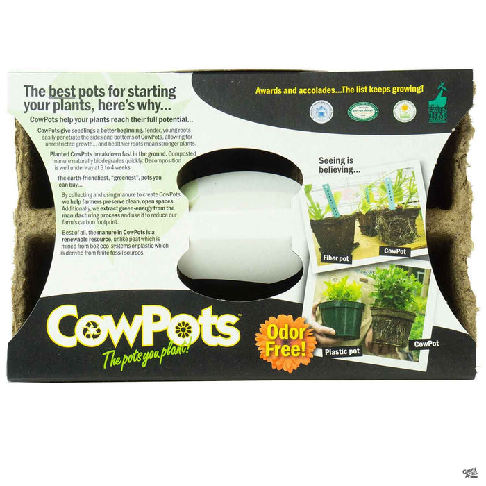 Cow Pots 3 inch (6 cell)