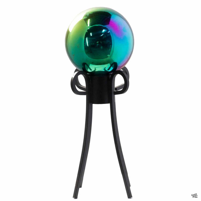 Multicolor Gazing Ball on Stand