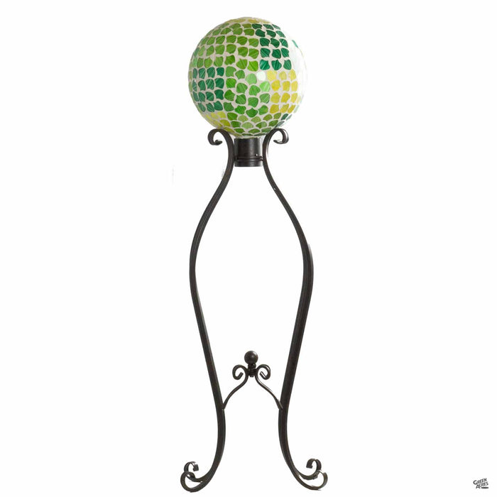 Nature's Vitality Mosaic Gazing Ball with Stand