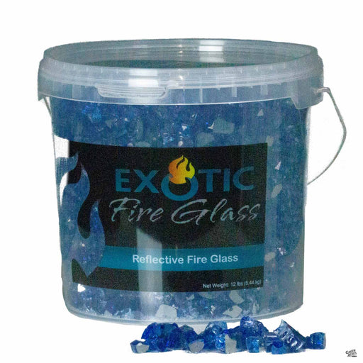 Exotic Fire Glass - Cobalt Blue Reflective