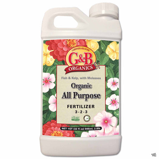 G and B Organics - Organic All Purpose Fertilizer 1 quart