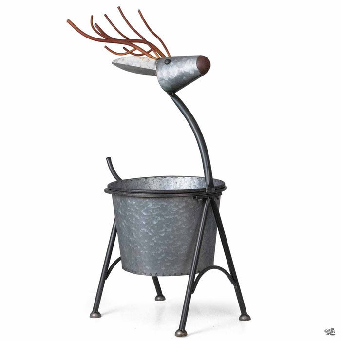 Nesting Metal Deer Planter large