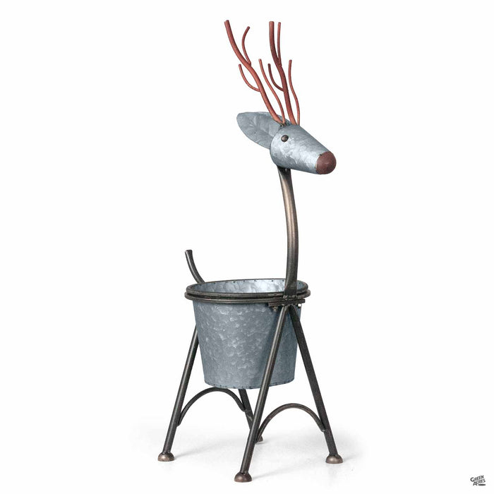 Nesting Metal Deer Planter small