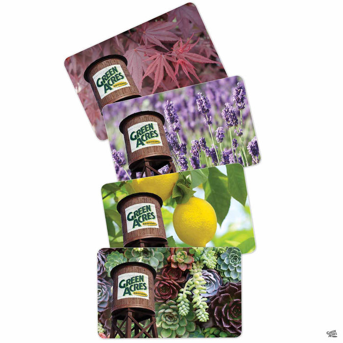 Green Acres Nursery & Supply Gift Card Designs