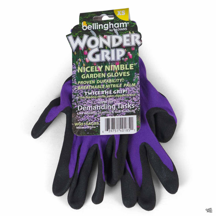 Wonder Grip® Nicely Nimble® Glove Extra-Small Purple