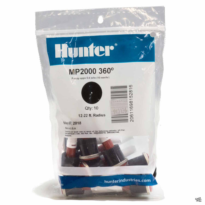 Hunter M P Rotators 2000 Series, 360 degrees, 10 pack