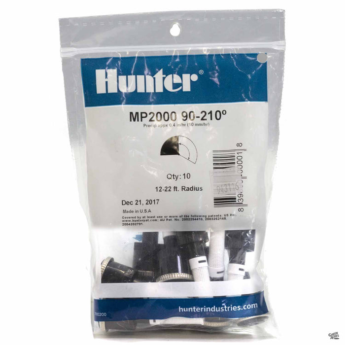 Hunter M P Rotators 2000 Series, 90 to 210 degrees, 10 pack