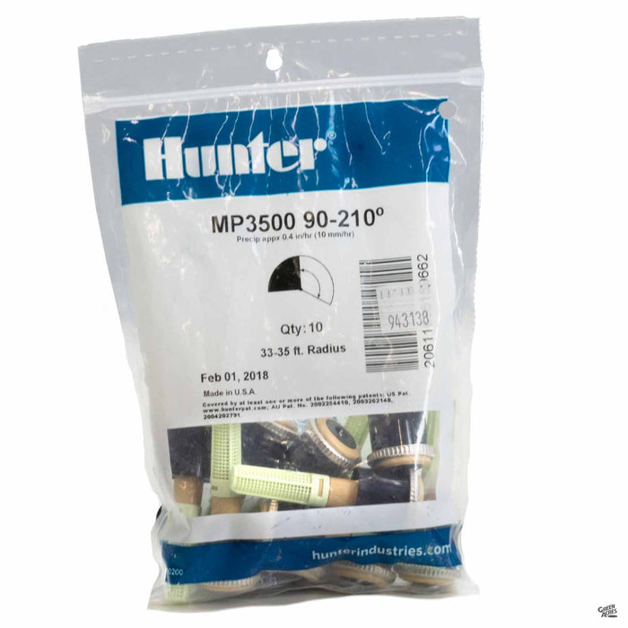 Hunter M P Rotators 3500 Series, 90 to 210 degrees, 10 pack