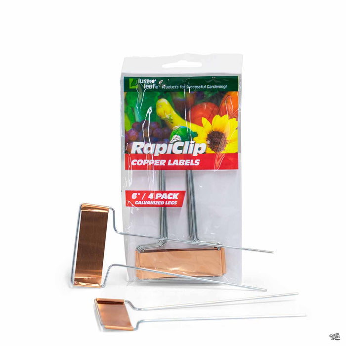 LusterLeaf RapiClip Copper Labels 6 inch 4-pack