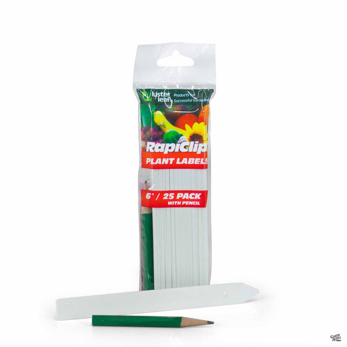 RapiClip Plant Labels 6 inch, 25 pack with pencil