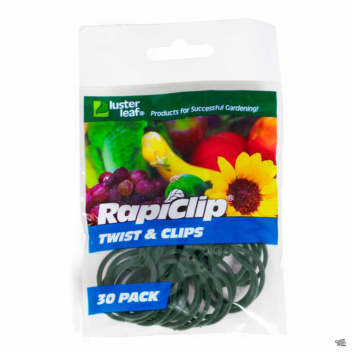 Luster Leaf RapiClip Twist and Clips 30-pack