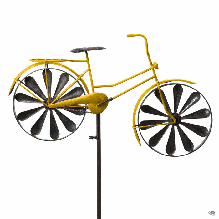 Yellow Bicycle Spinner by Marshall Home and Garden