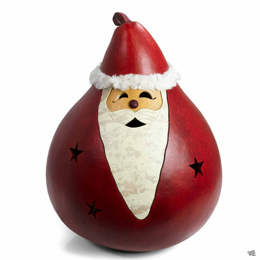 Meadowbrooke Gourds Winter Santa Medium Lit