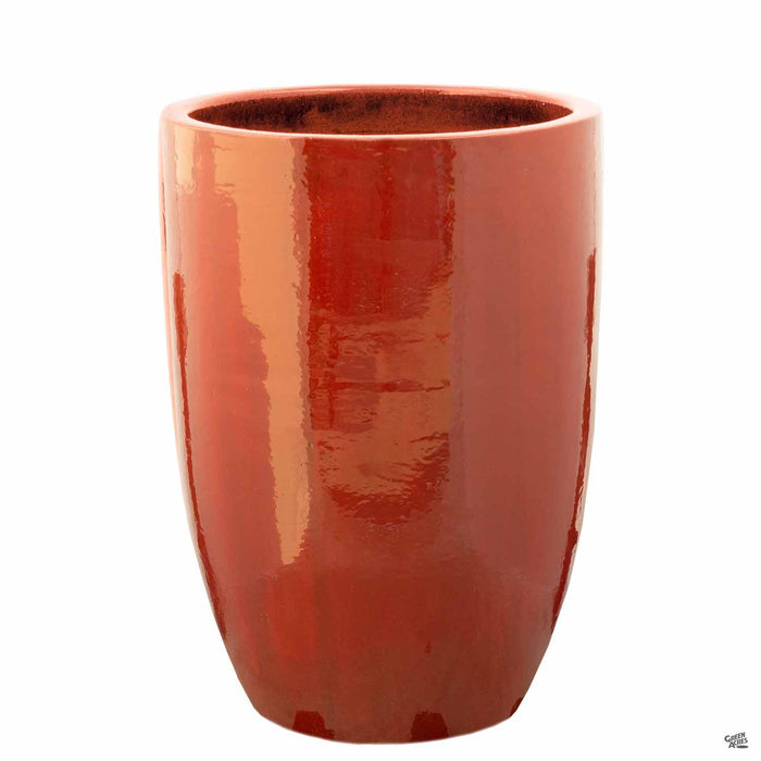No Rim Planter in Red