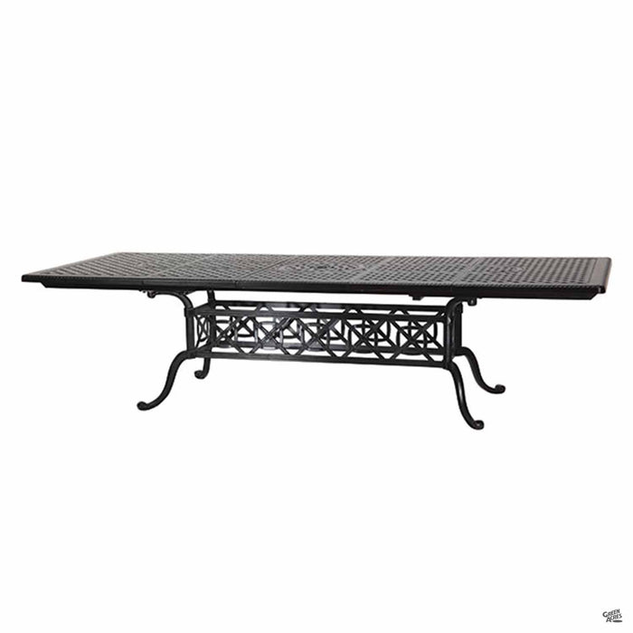 Gensun Grand Terrace Rectangular Dining Table 44 inch x 74 inch (up to 114 inch) by Gensun